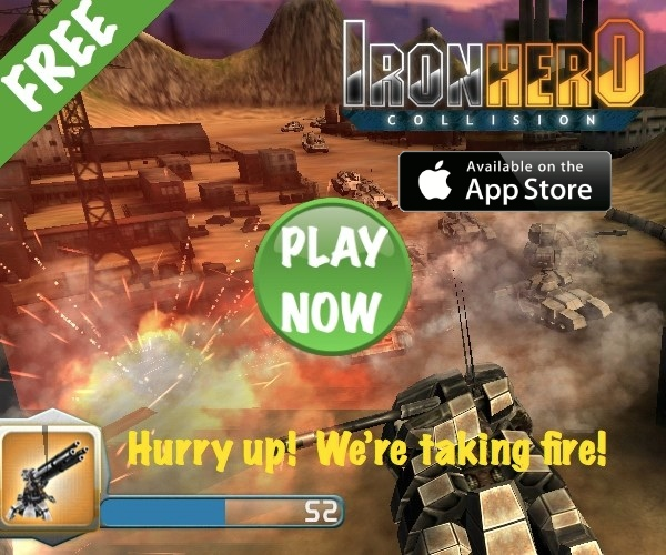 Iron Hero: Collision - brand new action-style tank defense.